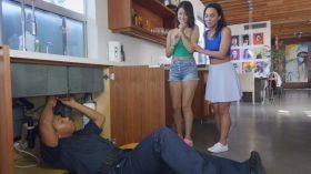 Irmãs fazendo porno com o encanador